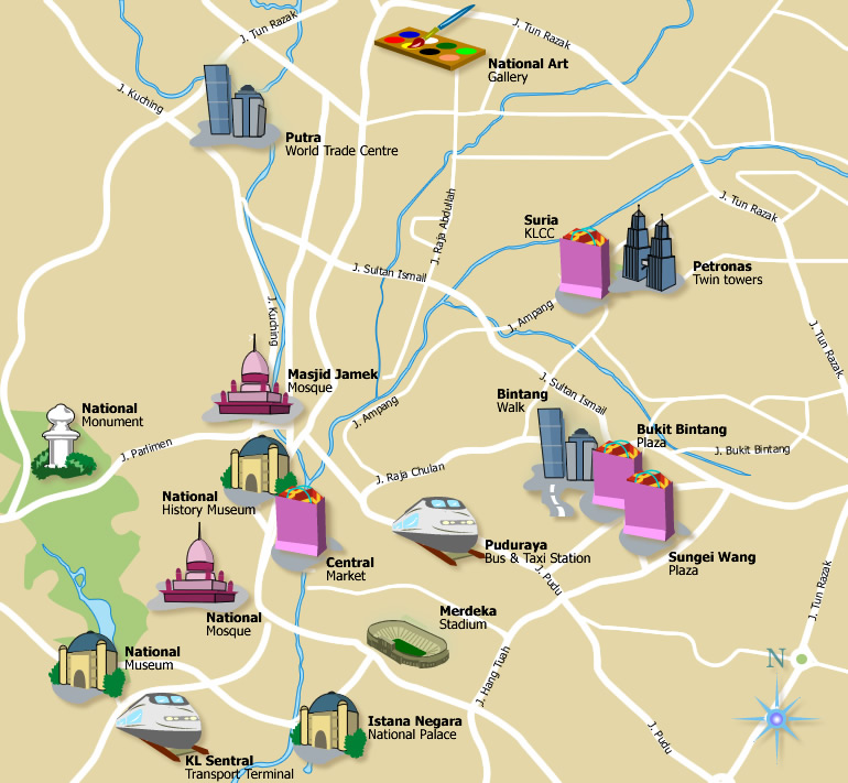 Map courtesy by tourism malaysia